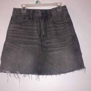 Abercrombie & Fitch Lightly Distressed Denim Skirt